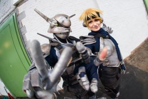 Appleseed  Deunan and Briareos III by Hime-sOph