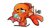TAWOG: Baby Owen with his Mommy Fish by karsisMF97