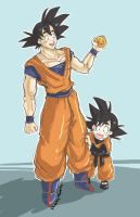 Goku and Goten by xXNoisheAteLloydXD