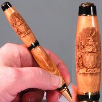 Coat of Arms Laser Engraved Wooden Pen by woodenpenworks