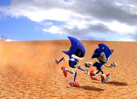 Race freeze frame by Sonic840