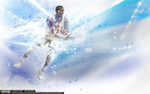 Mike Conley Glitch Wallpaper by Angelmaker666