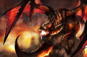 Deathwing dragon from world of warcraft by Hamzilla15