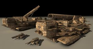 Magnetic Railgun Artillery by Hausmann