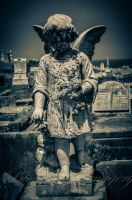 Child Angel Headstone by BioVenomImagery
