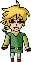 Toon Link With No Hat by water16dragon