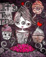 Ms. Tea and the cupcakes by dragonfly2736