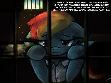 (45minutechallenge) jail time for rainbow dash by luminaura