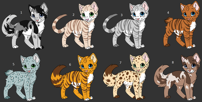Cat Adoptables - 2 Points by Celery6425