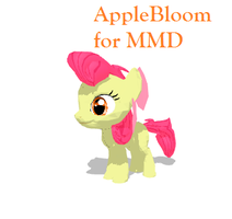 AppleBloom for MMD by MonoShuga