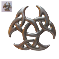 Celtic style broach png by Birdsatalcatraz
