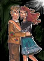 Tonks and Lupin by bachel60