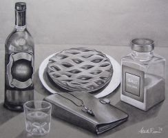 Still-life representation of Dean Winchester by Alannah-Rose