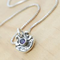 Tiny Spoon Pendant with Amethyst by metalsmitten