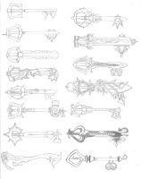 Keyblade Designs by LordKnightXiron
