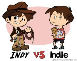 Indy VS Indie by kevinbolk