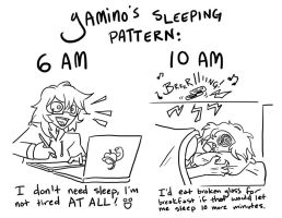 Yamino's Sleeping Pattern by Yamino