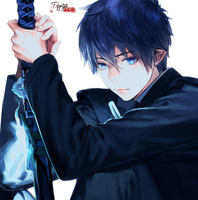 Render Rin Okumura by Portgas-D-Ace29