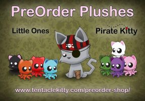 Pirate Kitty and Little Ones Preorders! by TentacleKitty