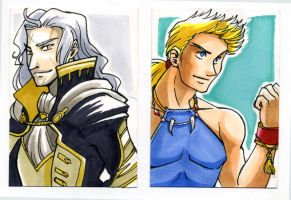 Sketch Card Setzer and Sabin by glance-reviver