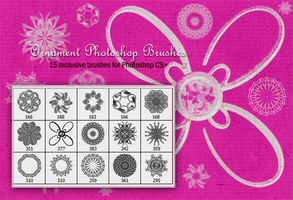Ornament Photoshop Brushes by fiftyfivepixels