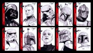 501st sketch cards by roberthendrickson