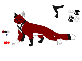 Foxlen's 2013 Reference Sheet (Not drawn by me) by DarkBloodPro