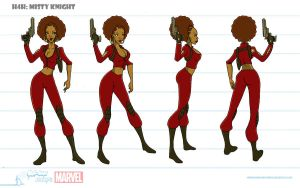 Misty Knight Turnaround by artofjared