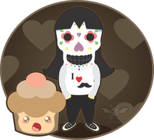 Mexican skull chibi by iveinbox
