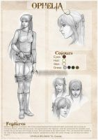 Ophelia reference sheet by CristianaLeone
