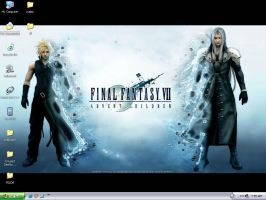 Advent Children Desktop by LeorenArt