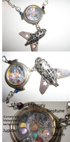 3D Jeweled Solar System Necklace by SunshineEmily