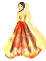 Katniss Everdeen : The Girl on Fire by ihavenoidea2