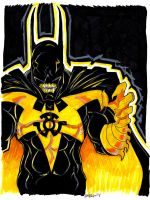 Yellow Lantern Batman by misfitcorner
