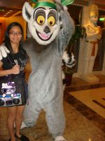 Me and King Julien the Lemur at the cruise photo 1 by Magic-Kristina-KW