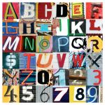 Urban Alphabet Glossy Print by piratesofbrooklyn