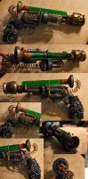 Tesla Western Steampunk Pistol by ajldesign