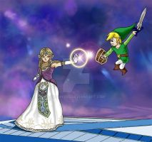 Zelda vs Link by yashy20c