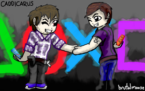 Caddicarus and brutalmoose FanArt by SilverChaos13
