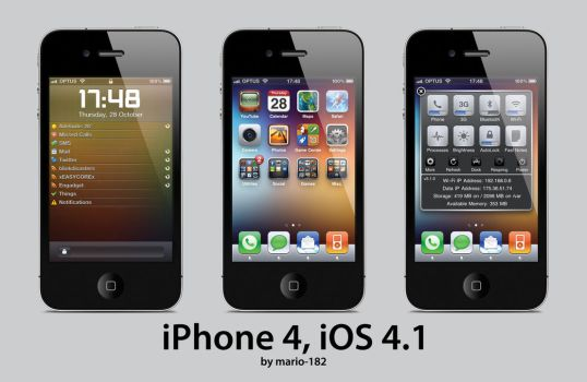 iPhone 4, iOS 4.1 by mario-182