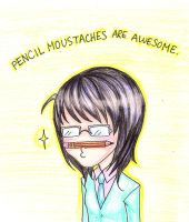 Pencil Moustache Awesomeness by mlle-annette