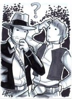 Indy and Han Sketchcard by stratosmacca