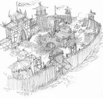 Orc Fort Sketch by DKuang