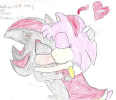 shadow+amy kiss by ShadamyFan47