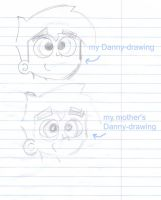 my mother drawed Danny by Chibi-Danny