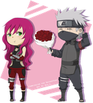 [Commission] Yuko and Kakashi by Ruu-k