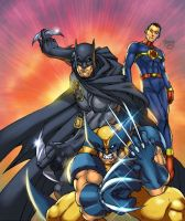 Batman, wolvierine , and Miracle Man by GreeneLantern