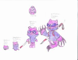 htf digimon the mole by anolelightdragon