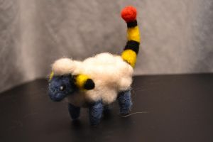 Needle Felted Mareep 3 by feltieflaffy