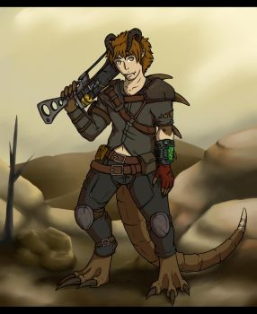 The Deathclaw Wander by winter-silverwolf